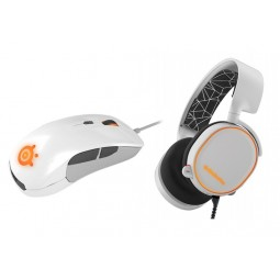 SteelSeries White Bundle (Arctis 5 & Rival 300)